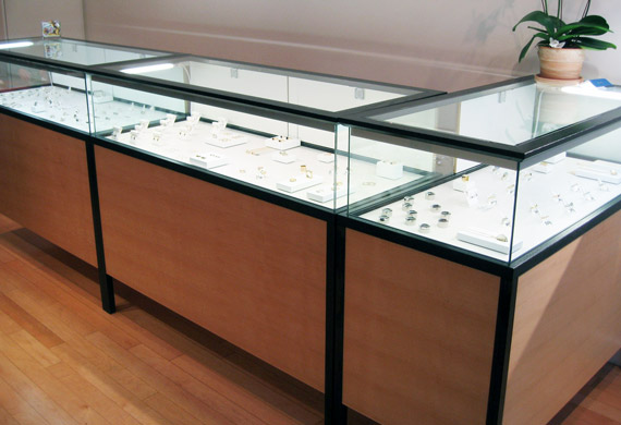 Jewelery display cabinets