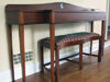 Solid mahogany table and bench